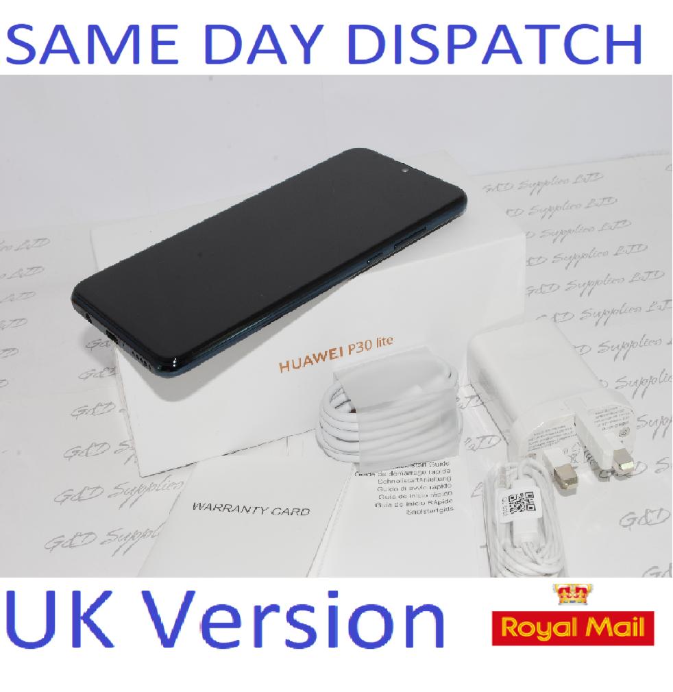NEW Huawei P30 Lite  4G Smartphone 4GB RAM 128GB Single Sim Black UNLOCKED UK Version