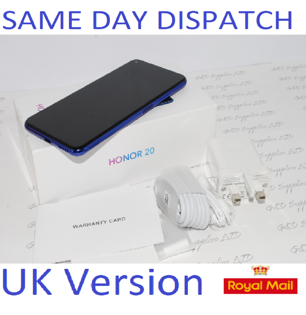 NEW HONOR 20 Blue 128GB / 6GB RAM Android Dual-SIM 4G Unlocked Huawei  UK version