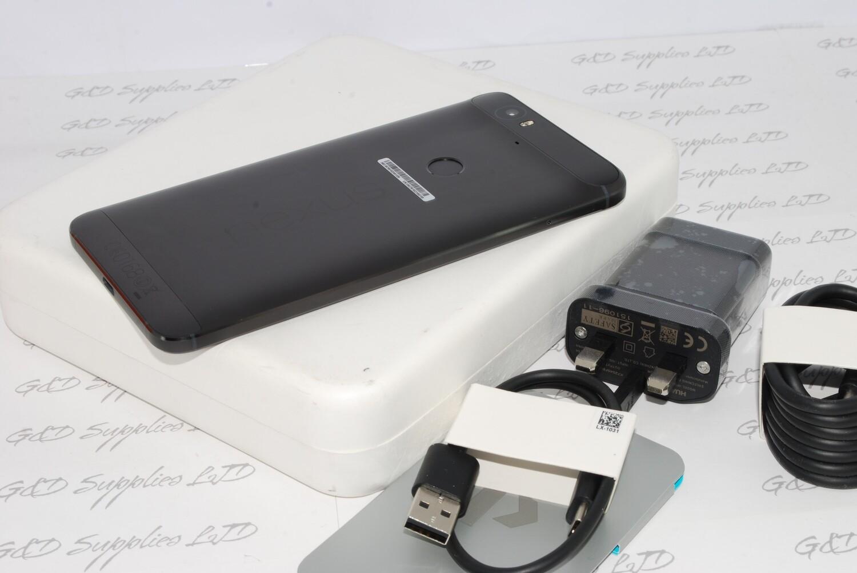 "Huawei Google Nexus 6P Unlocked GSM 4G LTE 5.7"" 12MP Smartphone 3GB+ 32GB black #"