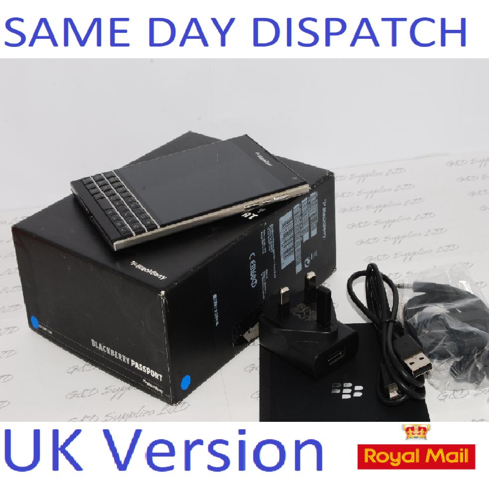 BlackBerry Passport - 32GB - Black (Unlocked) Smartphone UK SIM-Free Single SIM UK STOCK #