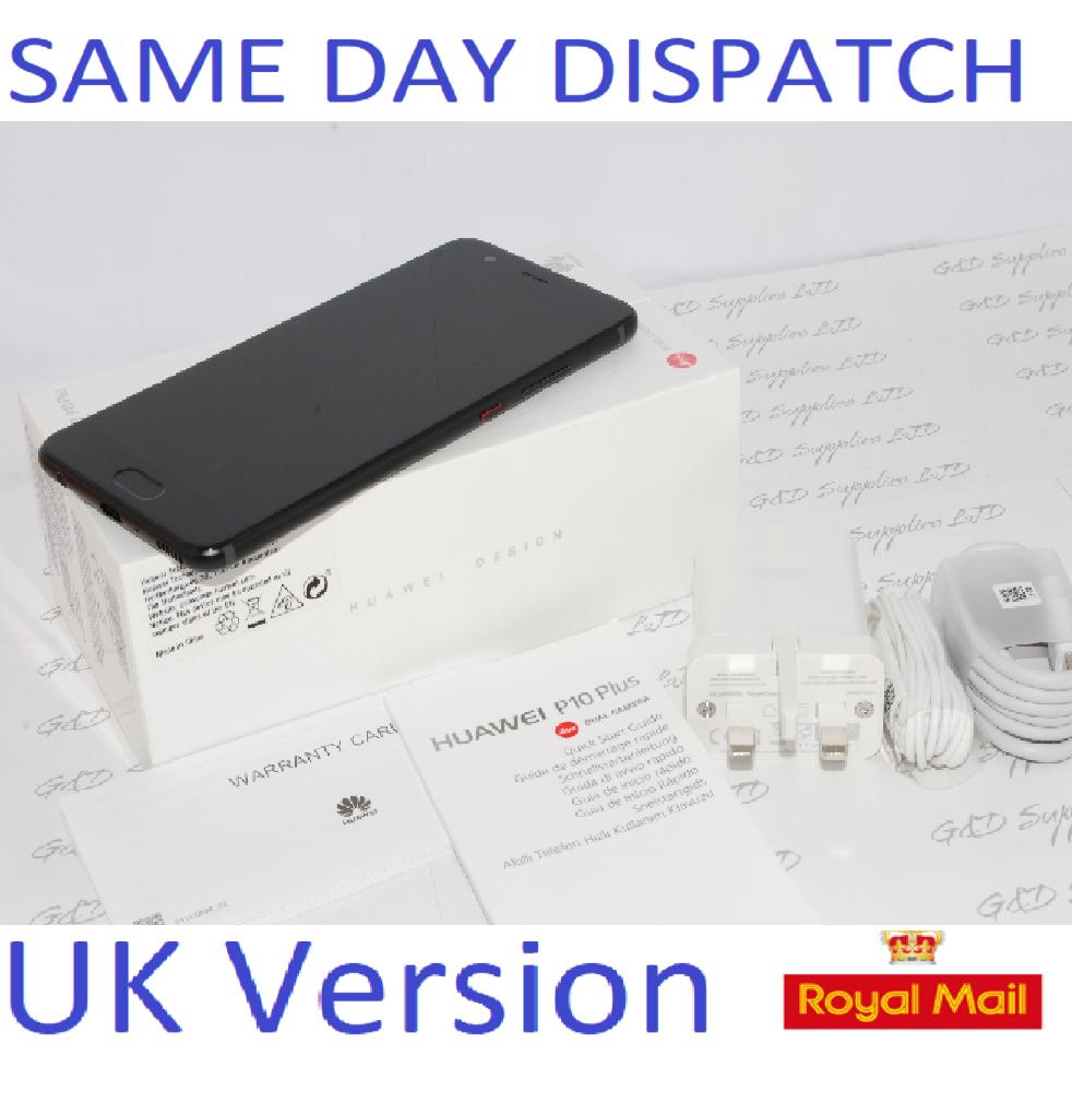 Huawei P10 plus VKY-L09 - 128GB  black   (Unlocked) Smartphone UK STOCK #
