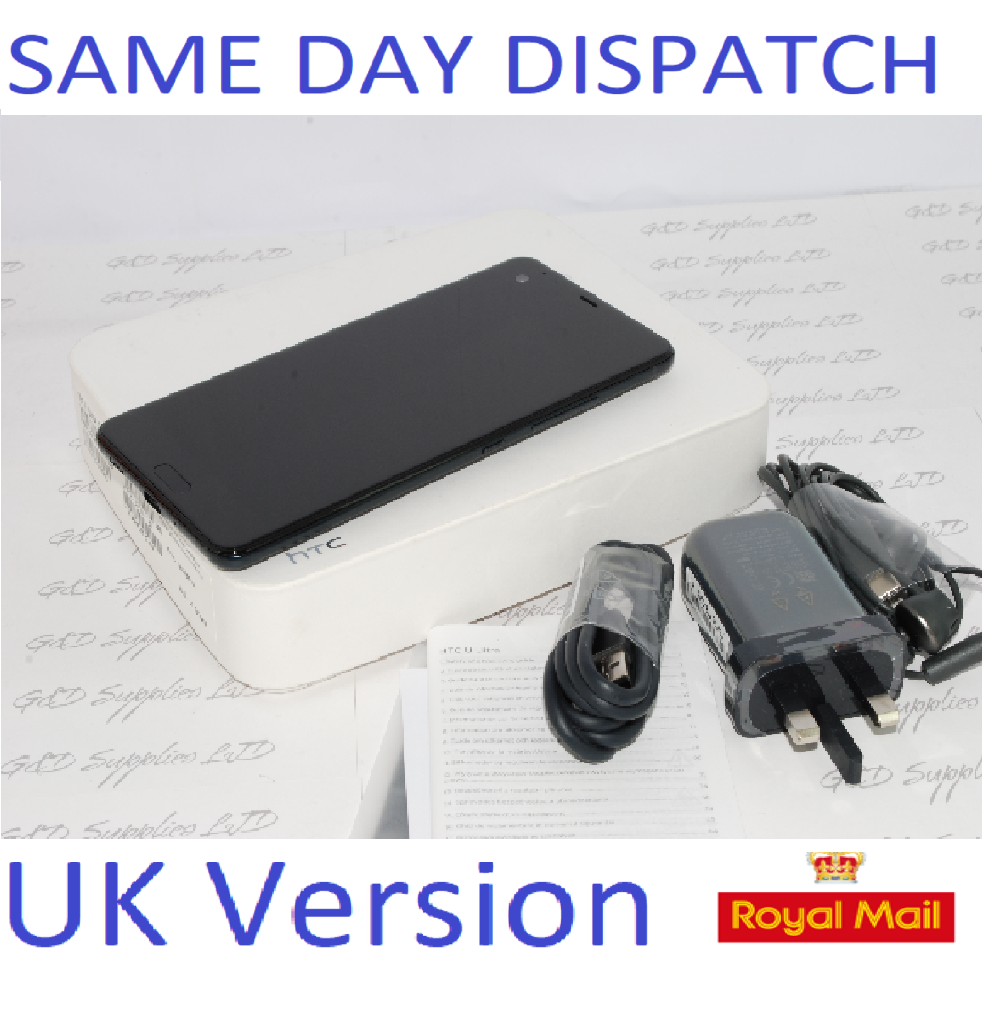 "HTC U Ultra 64GB 4GB RAM 5.7"" 12MP Camera Unlocked Smartphone UK Stock Black #"