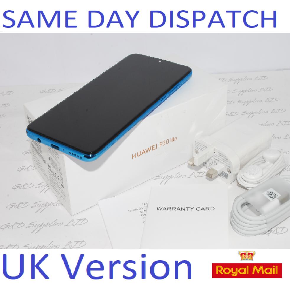 NEW Huawei P30 Lite  4G Smartphone 4GB RAM 128GB Single Sim Blue UNLOCKED UK Version