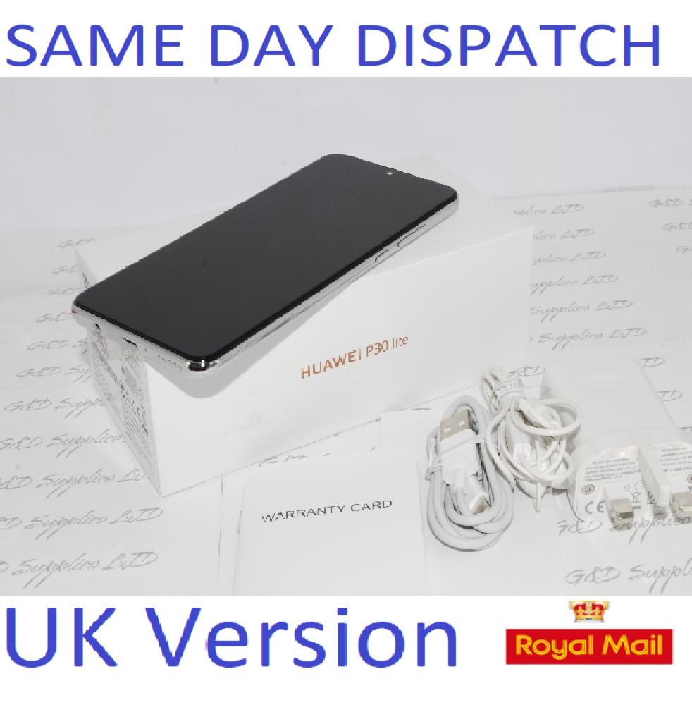 Huawei P30 Lite  4G Smartphone 4GB RAM 128GB  DUAL SIM WHITE UNLOCKED UK Version #