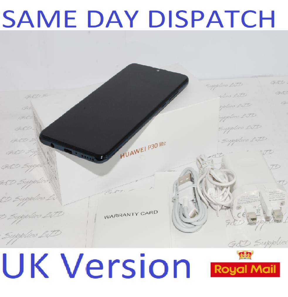 Huawei P30 Lite  4G Smartphone 4GB RAM 128GB Single Sim Black UNLOCKED UK Version #