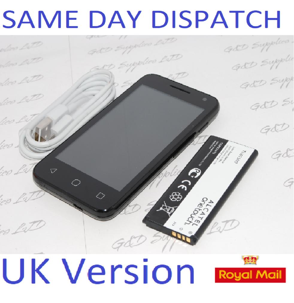 "ALCATEL U3 4034X 4""  4GB  2MP 3G BLACK  4GB 3G Android  UNLOCKED UK STOCK NO BOX"