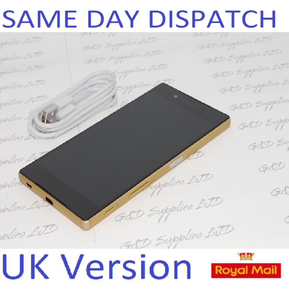 Sony Xperia Z5 Premium E6853 Unlocked Smartphone gold UK STOCK #