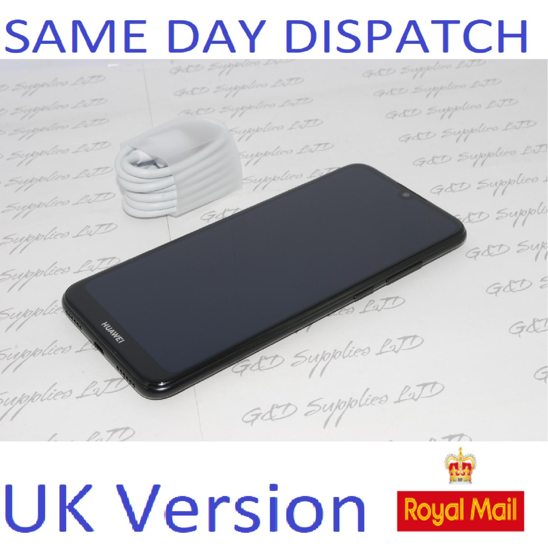 Huawei Y6 32GB 2019 Mobile Phone Sapphire Black unlocked UK version NO BOX