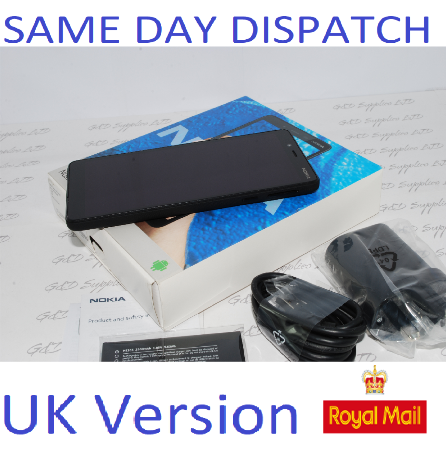 NEW NOKIA 1 Plus 2019 8GB Unlocked Android  4G Smartphones - Black  UK stock