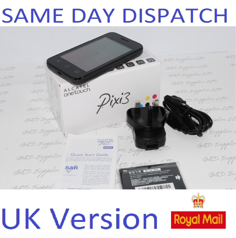 Alcatel One Touch Pixi 3 3.5 inch Unlocked Sim Free 4009X UK STOCK #