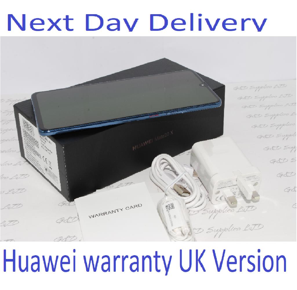 "Huawei Mate 20 X - 128 GB - Midnight Blue (Unlocked 7.2"" Dual SIM UK Version #"