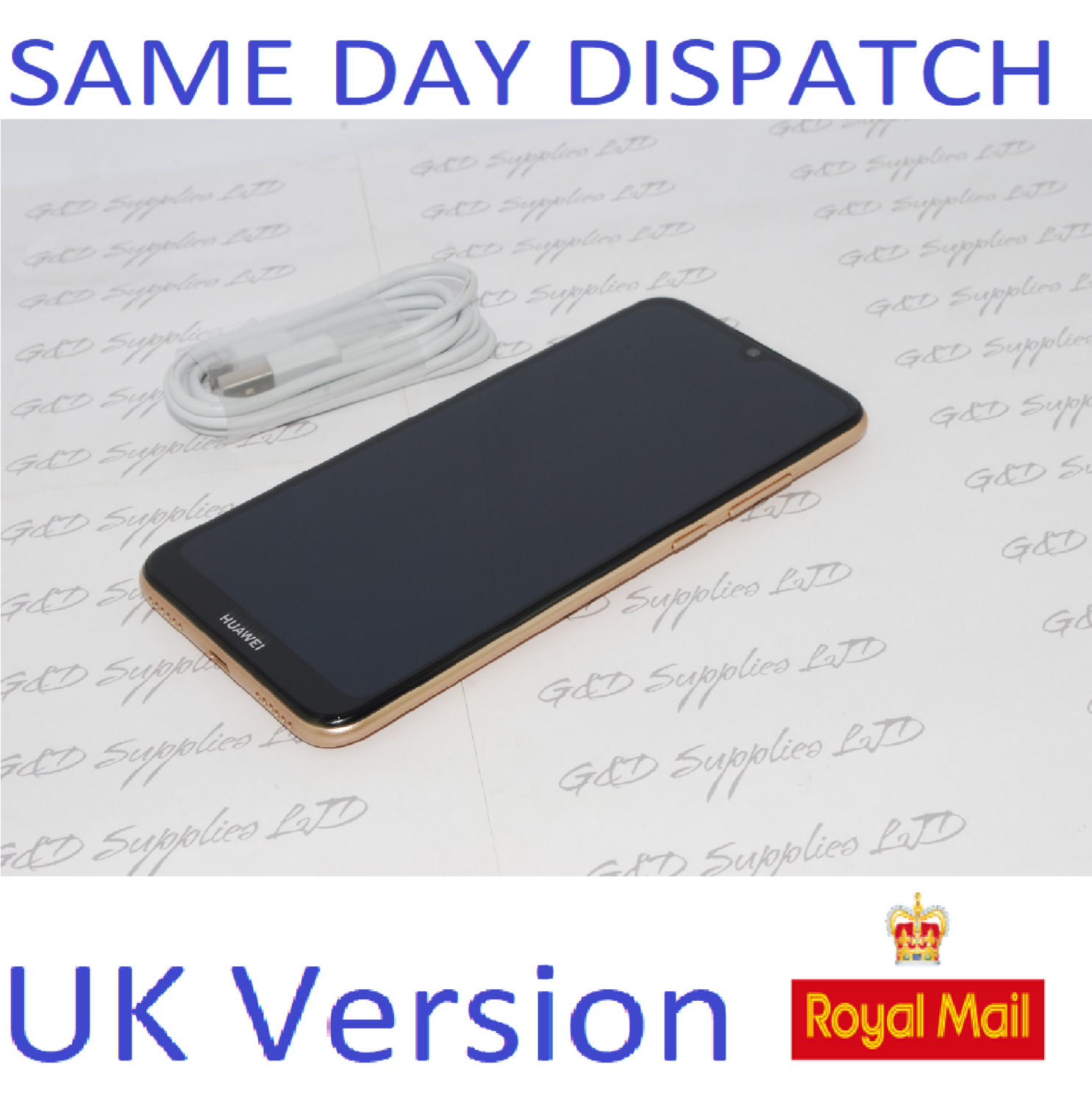Huawei Y6 32GB 2019 Mobile Phone Sapphire Brown unlocked UK version NO BOX