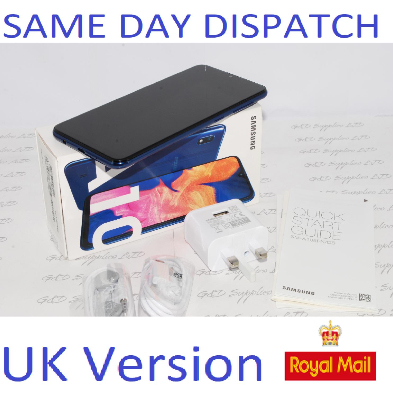 # Samsung Galaxy A10 Dual Sim (2019) 32GB 4G LTE NFC Blue Unlocked UK Version