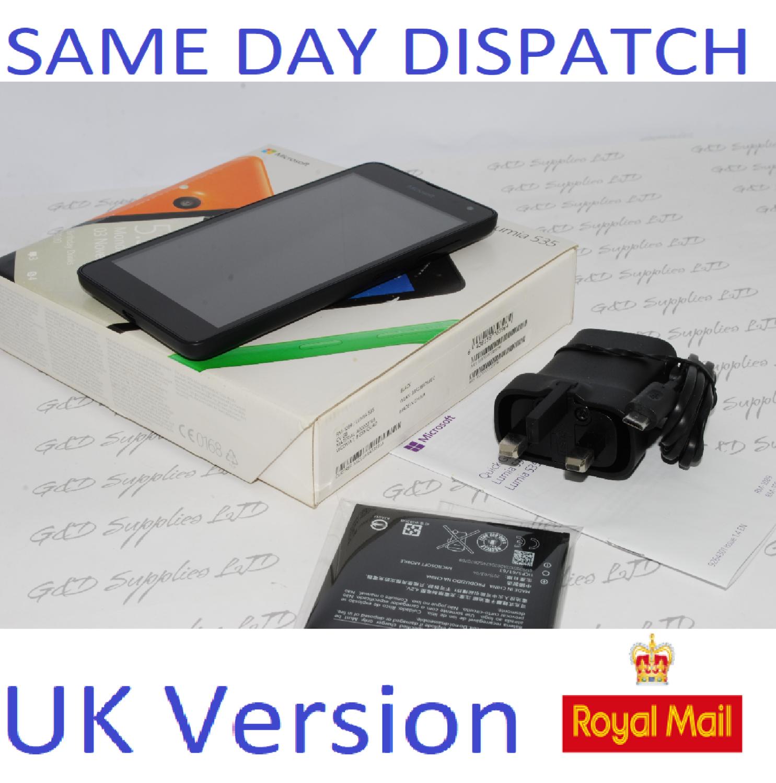 Microsoft Nokia Lumia 535 8GB  SINGLE SIM SMARTPHONE Unlocked Black  3G UK STOCK #