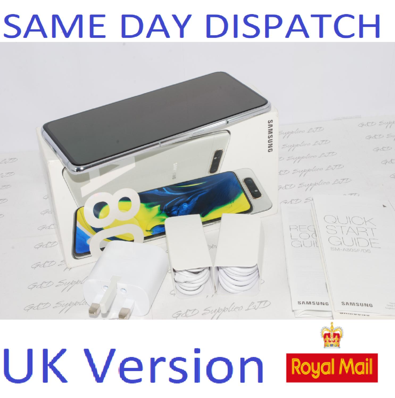 Samsung Galaxy A80 A805FD 128GB 8GB Dual SIM Ghost white Unlocked  UK Version #