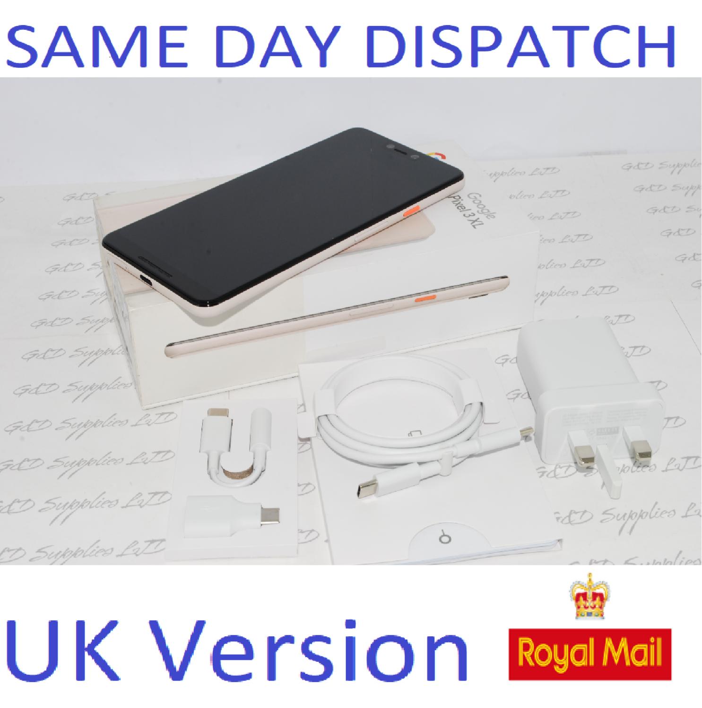 Google Pixel 3 XL 64GB - Pink (Unlocked) Smartphone UK STOCK #