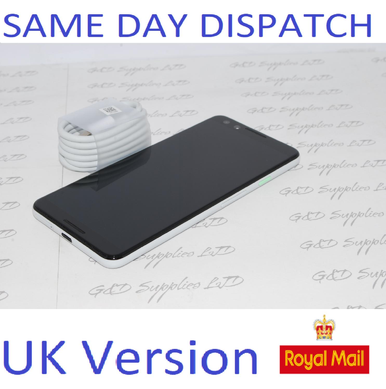 Google Pixel 3 - 128GB - white  (Unlocked) Smartphone G013A  UK STOCK NO BOX .