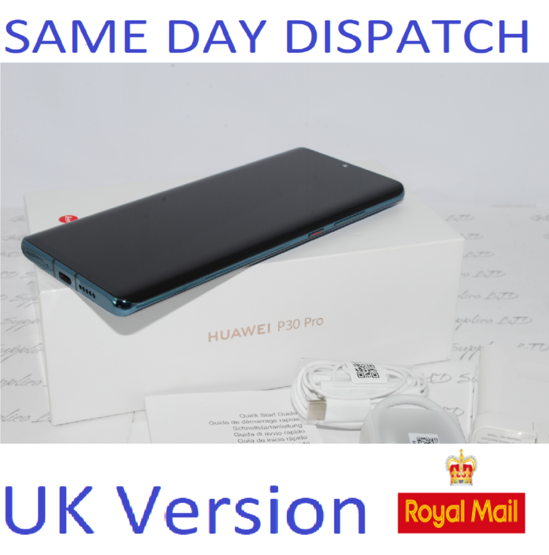 Huawei P30 PRO  Dual SIM  128GB Mystic Blue Single 8GB Sim UNLOCKED UK Version #