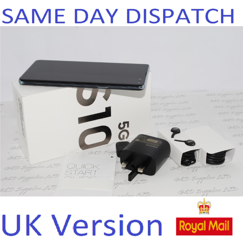 SAMSUNG GALAXY S10 5G G977B 256GB MAJESTIC BLACK UNLOCKED UK Version #