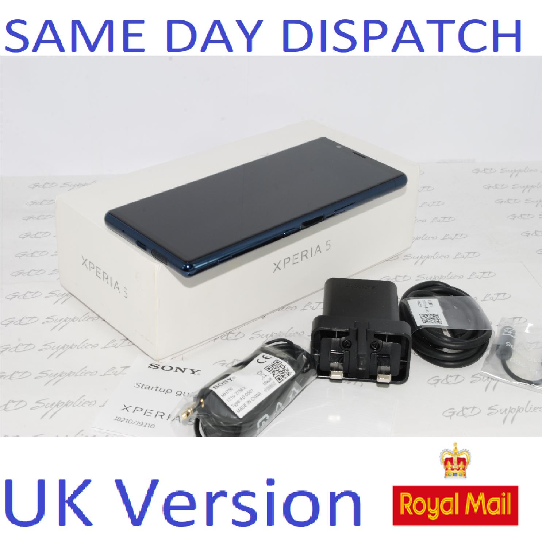 "New SONY XPERIA 5 J8210 6.1"" FHD+HDR OLED UNLOCKED 128GB 6GB RAM BLUE UK Stock"