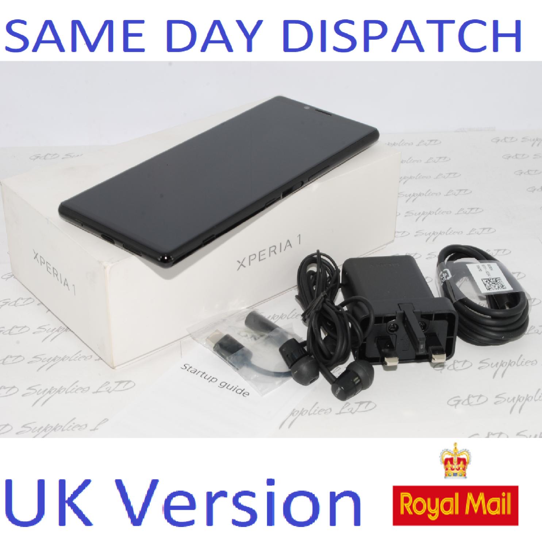 SONY XPERIA 1 (ONE) 4K HDR OLED 128GB 12MP J8110 Black  6GB UK STOCK #
