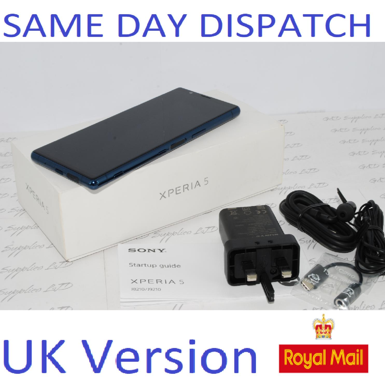 "SONY XPERIA 5 J8210 6.1"" FHD+HDR OLED UNLOCKED 128GB 6GB RAM BLUE UK Stock #"