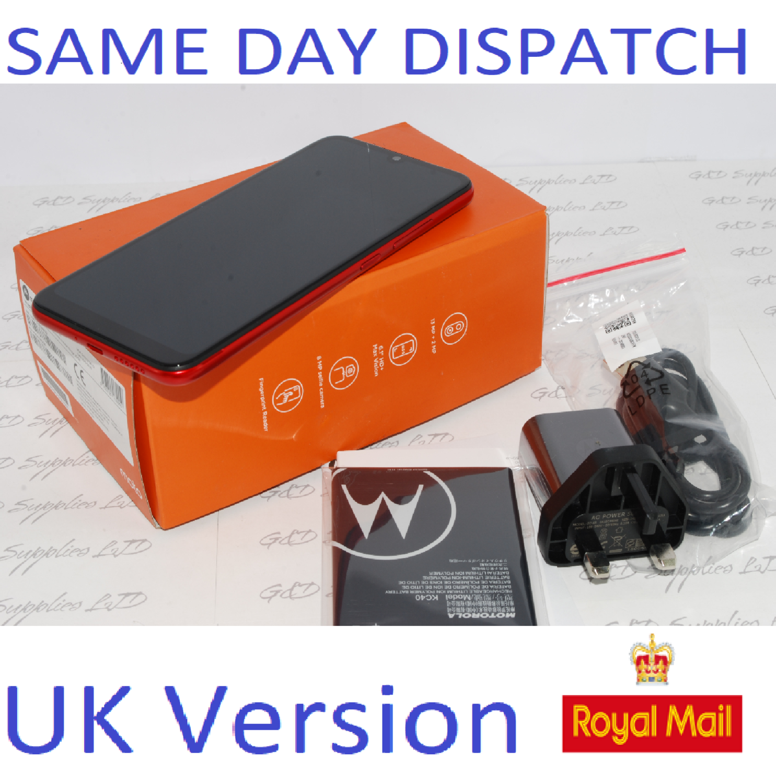 Motorola Moto E6 Plus XT2025-2 32gb Bright Cherry Unlocked Single Sim Smartphone UK stock #