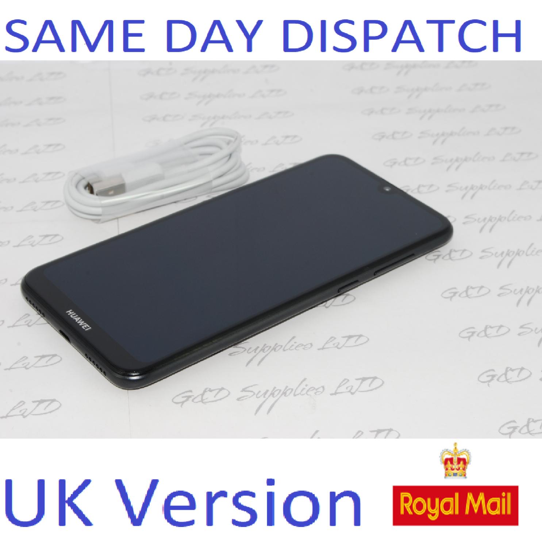 """# Huawei Y7 2019 32GB DUB-LX1 UNLOCKED 3GB RAM 4G 6.26"""" BLACK Single Sim UK STOCK no box"""