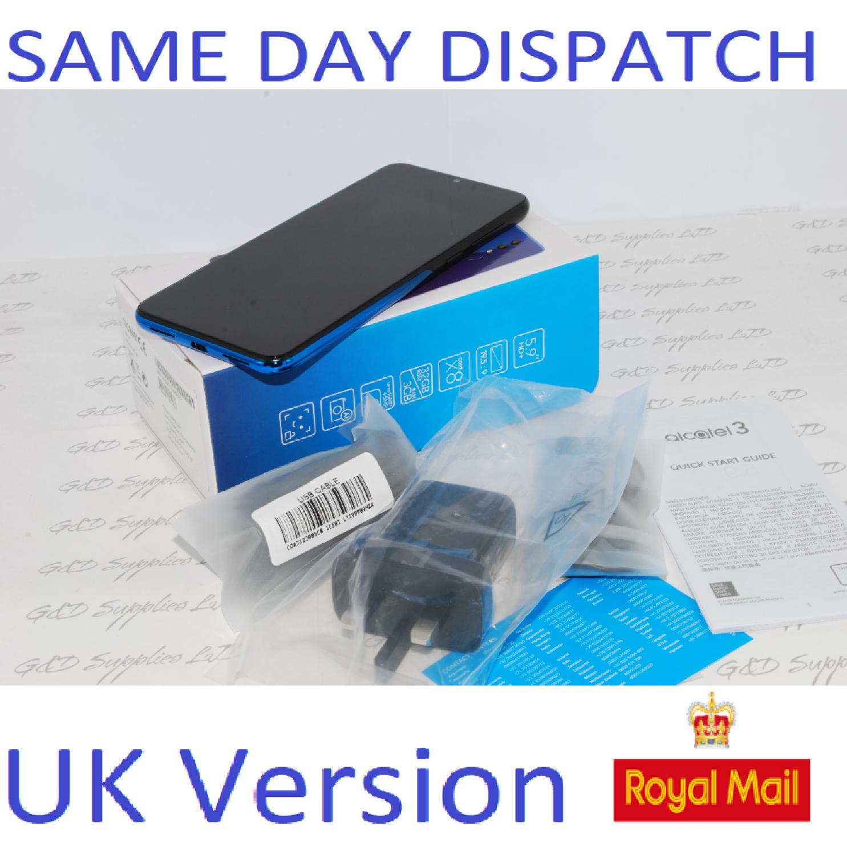 "ALCATEL 3 2019 5053Y 5.9"" UNLOCKED BLACK BLUE 32GB 3GB RAM UK STOCK"