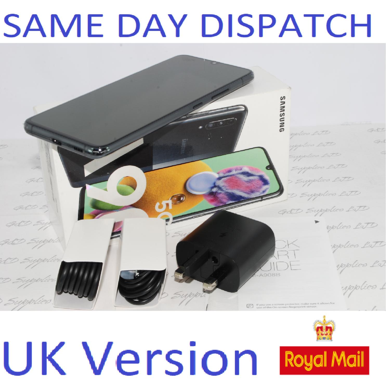 SAMSUNG GALAXY A90 5G SM-A908B UNLOCKED 6GB RAM 128GB BLACK UK Version #