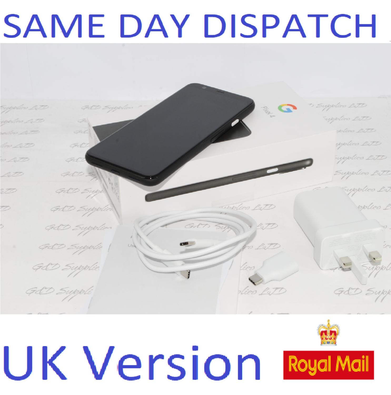 Google Pixel 4 128GB - 6GB BLACK  Android Mobile Unlocked Phone - UK version #
