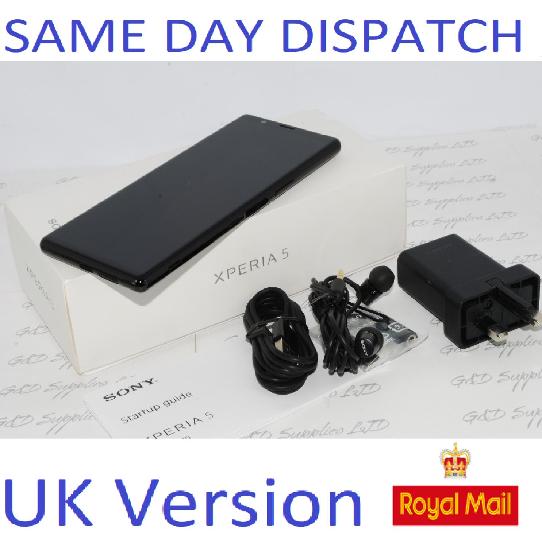 "SONY XPERIA 5 J8210 6.1"" FHD+HDR OLED UNLOCKED 128GB 6GB RAM Black UK Stock #"