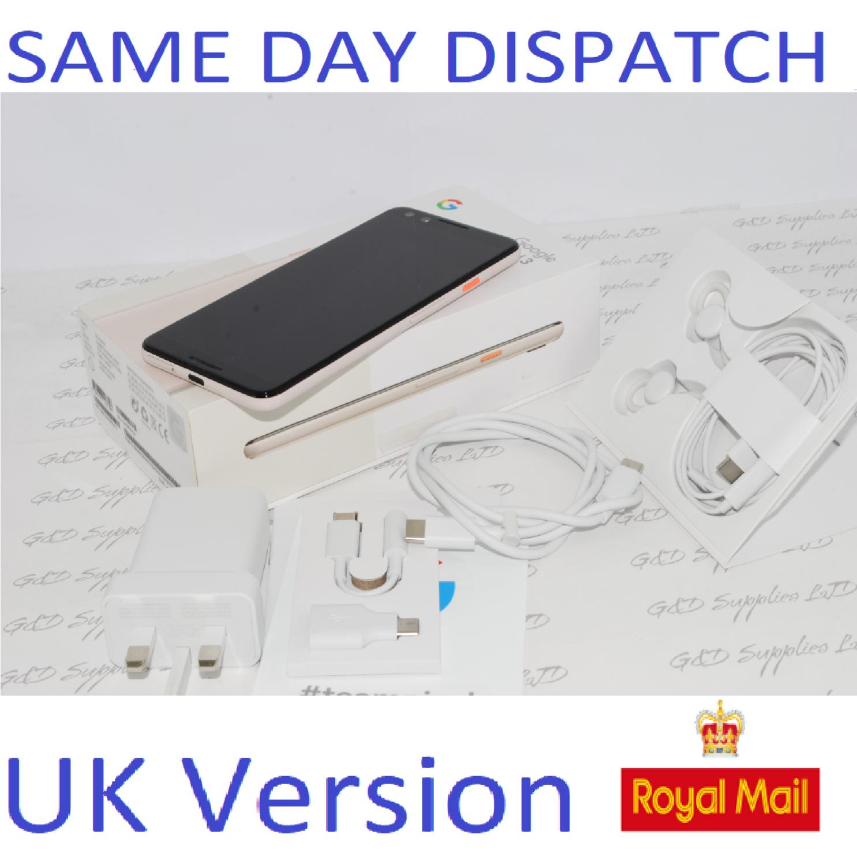 Google Pixel 3 - 64GB - NOT PINK (Unlocked) Smartphone G013A UK STOCK #