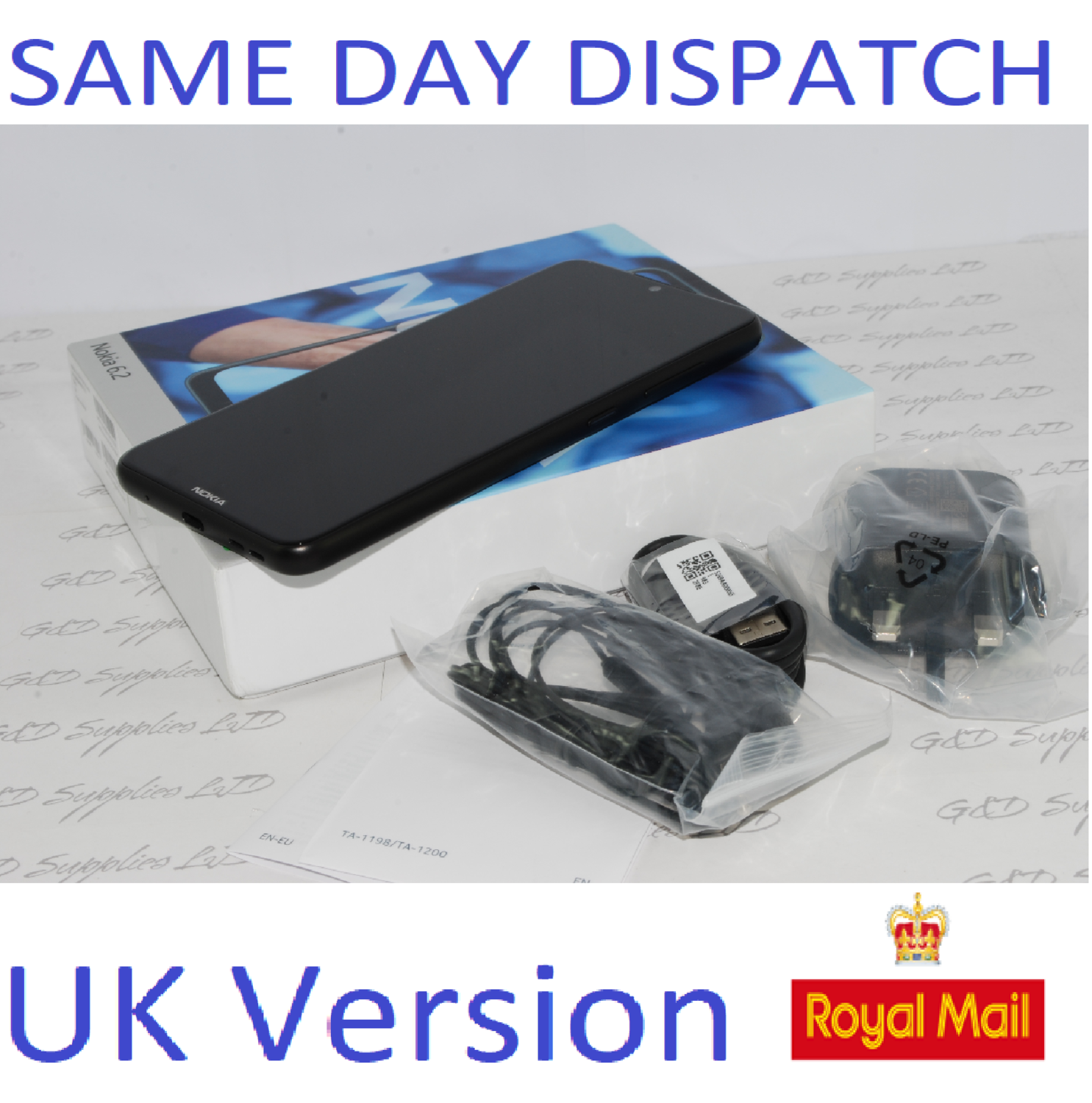 "NEW NOKIA 6.2 TA-1198 DS 6.3"" HD 4GB RAM 64GB FACTORY UNLOCKED BLACK DUAL SIM UK stock"
