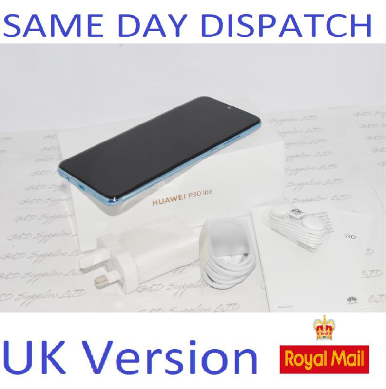 Huawei P30 Lite  4G Smartphone 4GB RAM 128GB Single Sim Crystal UNLOCKED UK Version #