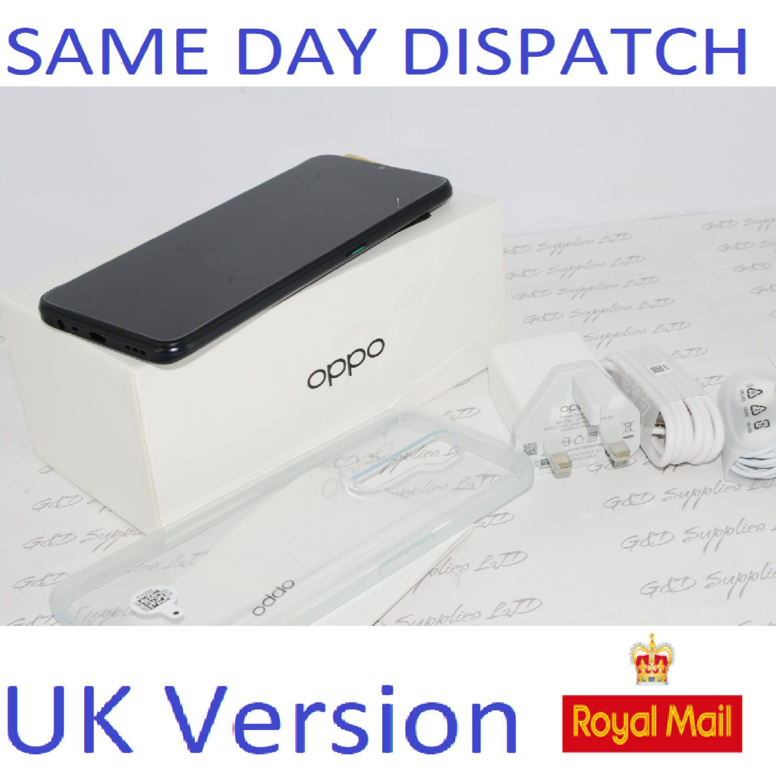 "New Oppo A5 2020 Mirror Black 6.5"" 64GB 4G Dual SIM Unlocked  CPH193 Unlocked UK version"