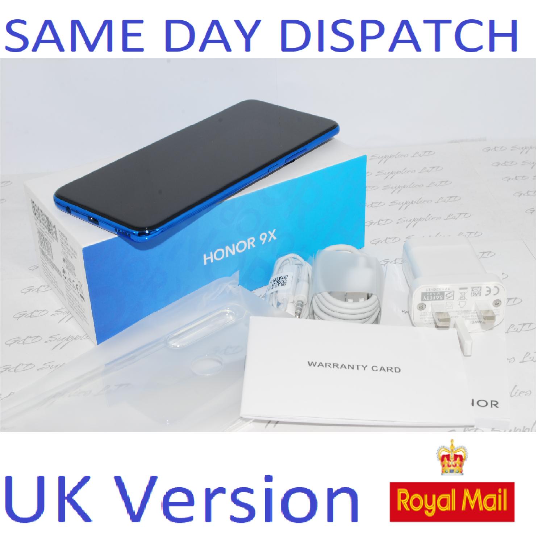 "NEW Honor 9X Sapphire Blue 6.59"" 128GB 4G Unlocked Dual-SIM 4G Unlocked Huawei  UK version"