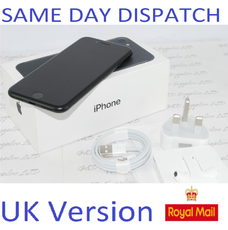 Apple iPhone 7 256GB  Unlocked Black SIM Free UK Version NEW Condition #