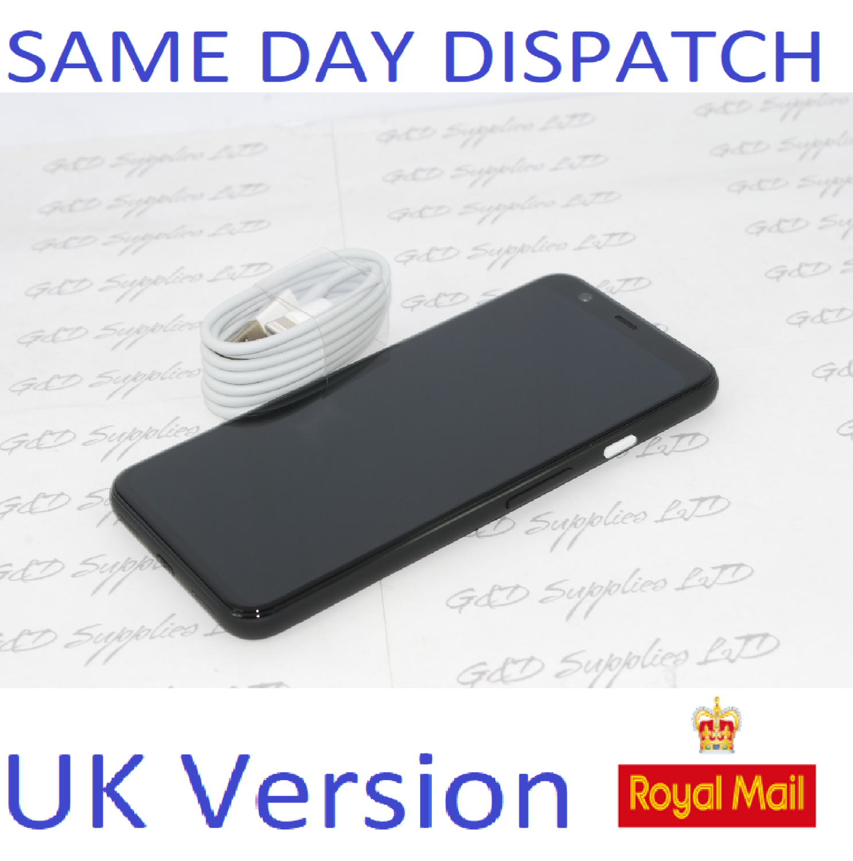 Google Pixel 4 64GB - 6GB Just Black Android Mobile Unlocked Phone - UK version NO Box