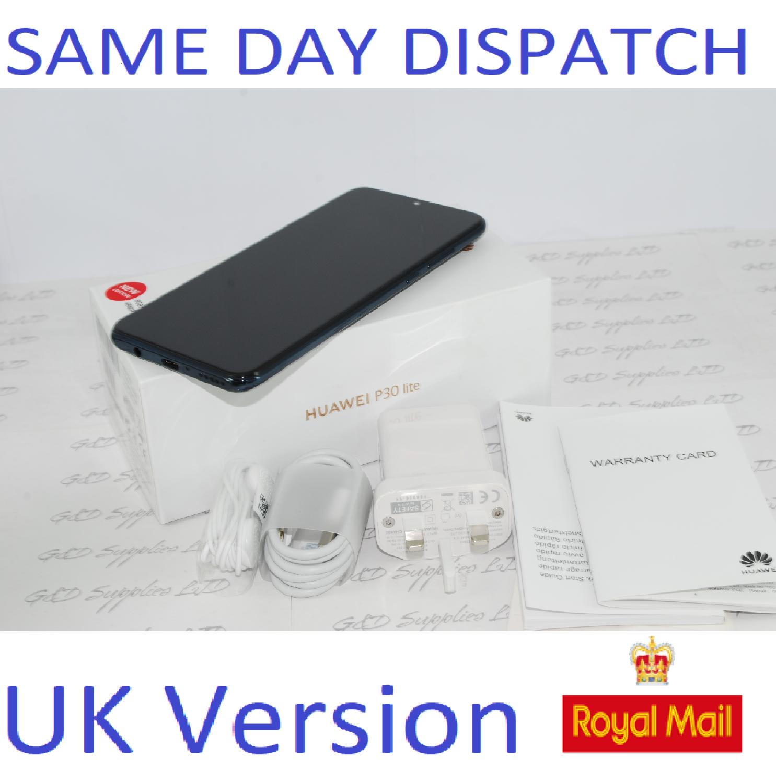 NEW Huawei P30 Lite new edition 6GB RAM Dual sim 256GB Black UNLOCKED UK Version