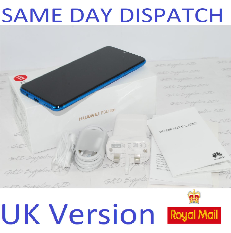 NEW Huawei P30 Lite new edition 6GB RAM Dual sim 256GB BLUE UNLOCKED UK Version