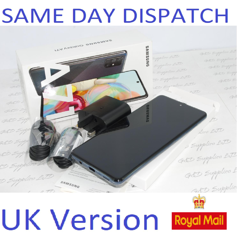 Samsung Galaxy A71 (SM-A715F/DS) - 128GB Prism Crush black Dual Sim UNLOCKED  UK Version #