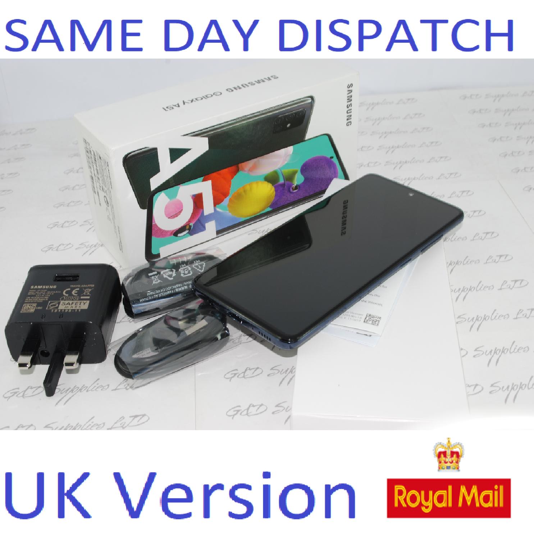 Samsung A51 (SM-A515F/DS) - 128GB Prism Crush black Dual Sim UNLOCKED NFC UK Version #
