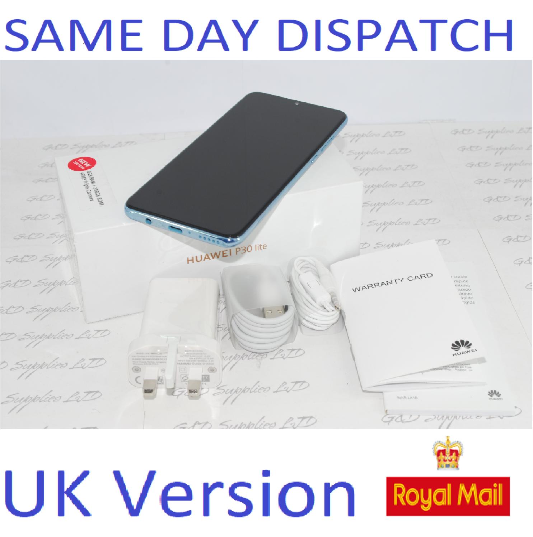 Huawei P30 Lite 2020  6GB RAM Dual sim 256GB Crystal UNLOCKED UK Version #