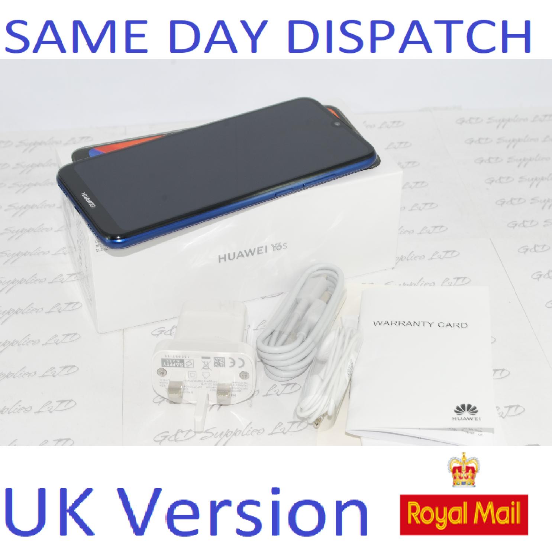 HUAWEI Y6S JTA-L41 UNLOCK DUAL SIM BLUE 32GB 3GB RAM 4G LTE 2020  UK Version #