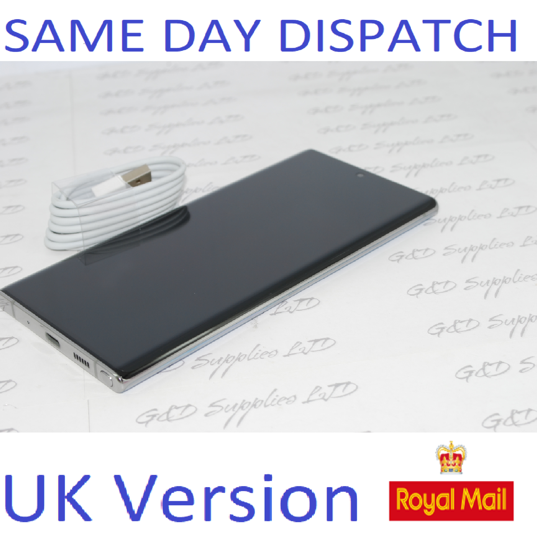Samsung Galaxy Note 10 + Plus 5G 256GB Aura Glow unlocked Single SIM UK Version NO BOX