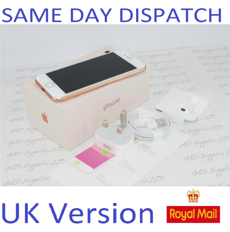 NEW Apple MQ6G2BA iPhone 8 4G 64GB Gold UK Version Unlocked SIM Free Boxed #