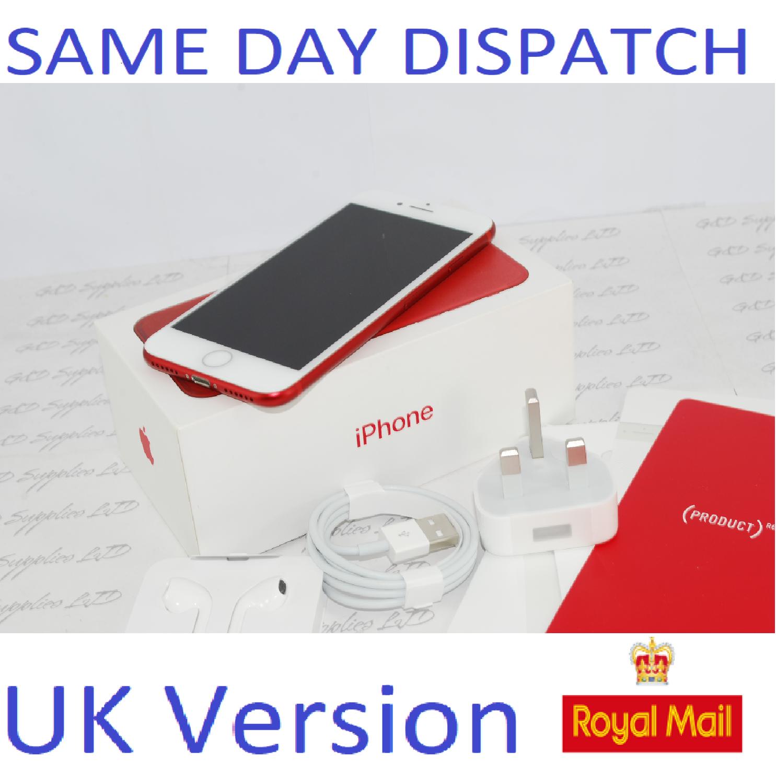Apple iPhone 7 128GB  Unlocked RED SIM Free UK Version NEW Condition #