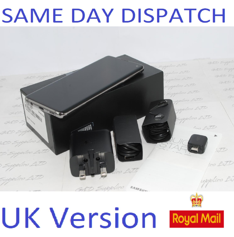 Samsung S10 SM-G973 4G prism Black 128GB Dual Sim UNLOCKED  UK Version #