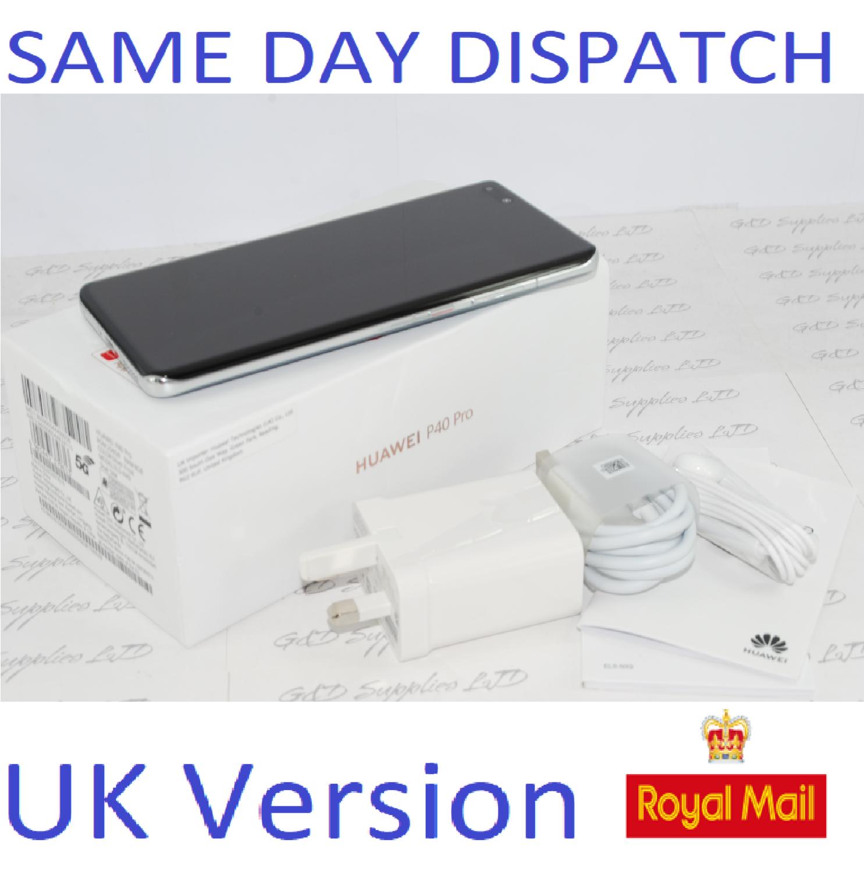 Huawei P40 Pro 5G 256GB 8GB RAM Silver   Dual Sim UNLOCKED UK Version #